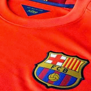 grade ori thailand, barca away, detail photo barcelona away, musim 2014/2015, jersey retro barcelona, penampakan photo barca