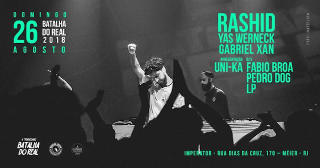 Rashid apresenta álbum CRISE na Batalha do Real no Rio de Janeiro