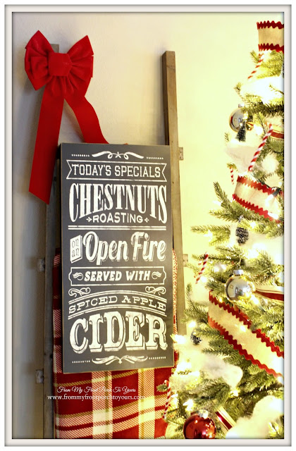 Farmhouse Christmas Tree-Chalk Board Sign- From My Front Porch To Yours
