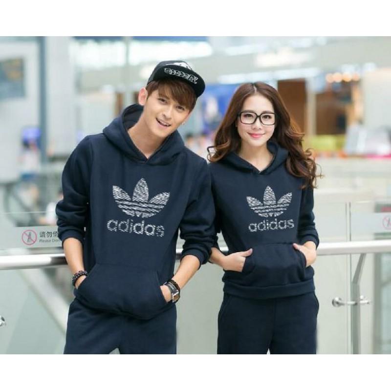 Jual Online Jumper Adidas Navy Couple Murah Jakarta Bahan Babytery Terbaru
