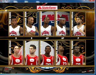 NBA 2K13 National Teams Mod Team USA FIBA