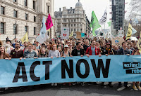 Much of central London was shut down for a week by a group called Extinction Rebellion, which camped in the streets, Occupy-style.(Photograph Credit: WIktor Szymanowicz / NurPhoto / Getty) Click to Enlarge.