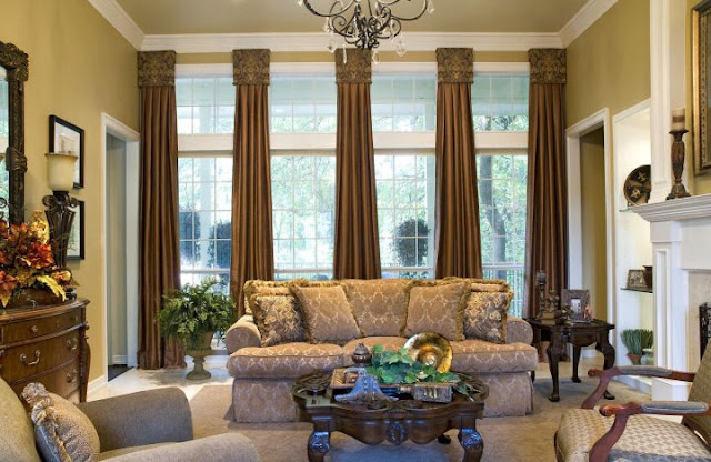 Contemporary Classic Tuscan Living Room