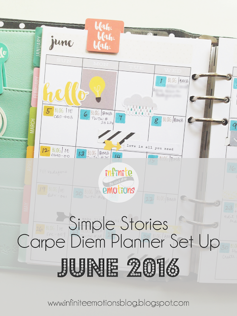 Carpe Diem Planner Set up | June 2016