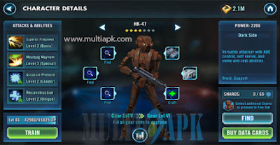 Game play Game Star Wars Galaxy of Heroes Apk Full MOD