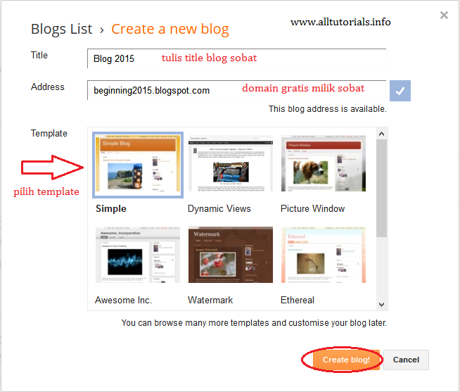 how to create new blog on blogspot