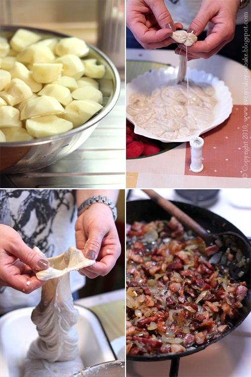 tradycyjna kiszka ziemniaczana w wieprzowym flaku