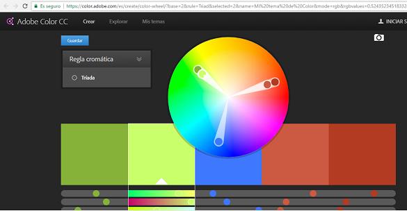 Herramienta de Adobe para generar paletas de colores