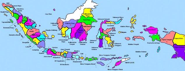 Peta Jumlah dan Nama Semua Provinsi di Indonesia
