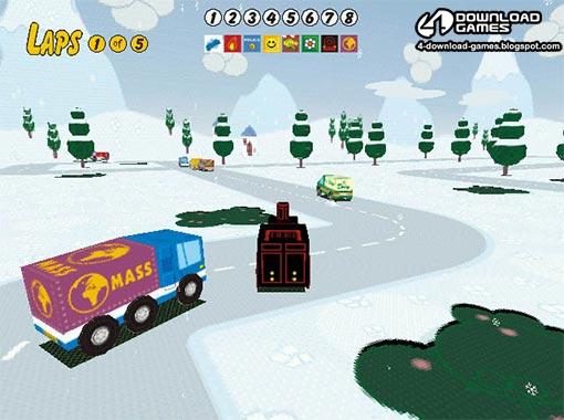 لعبة سباق سيارات Sunny Drivers للاطفال