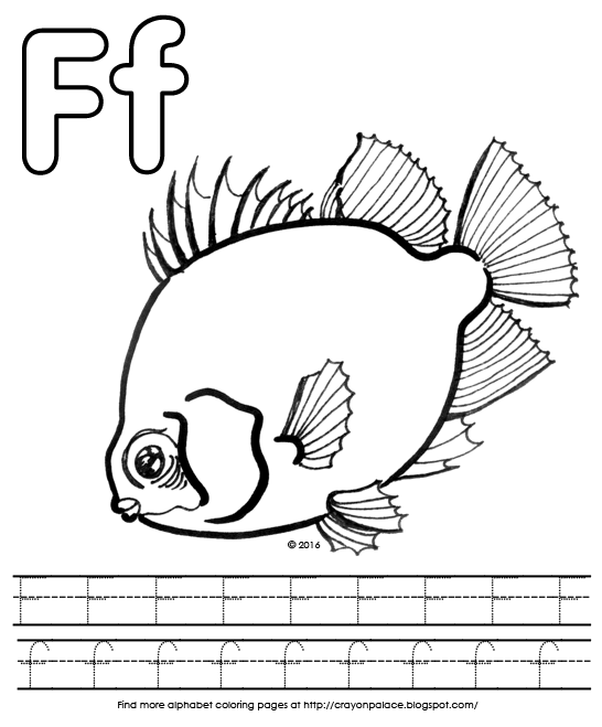 F Is For Fish Alphabet Coloring Page Crayon Palace - F-is-for-fish-coloring-page