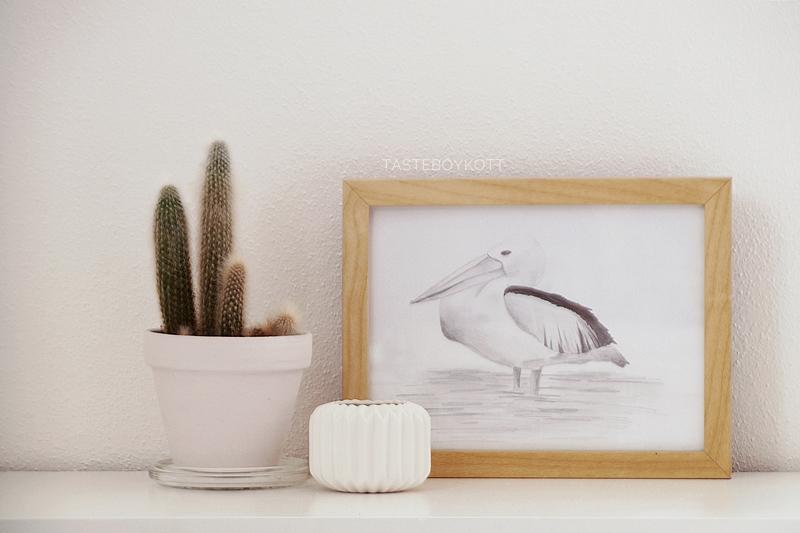 DIY Idee: Pelikan zeichnen als schnelle Deko