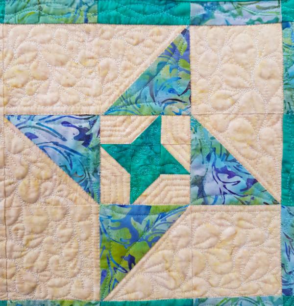 Friendship Galaxy mini quilt | DevotedQuilter.blogspot.com