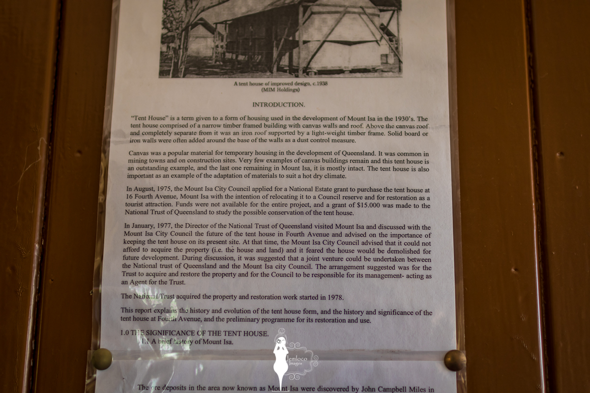 The history of the tent house - and specific information on this particular tent house. & Tent House Musuem Mount Isa NW Queensland | Mount Isa ...
