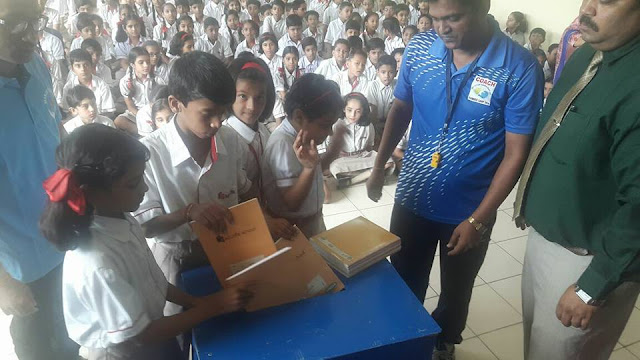 Mission Education Team BHOPAL placed the stationery collection box
