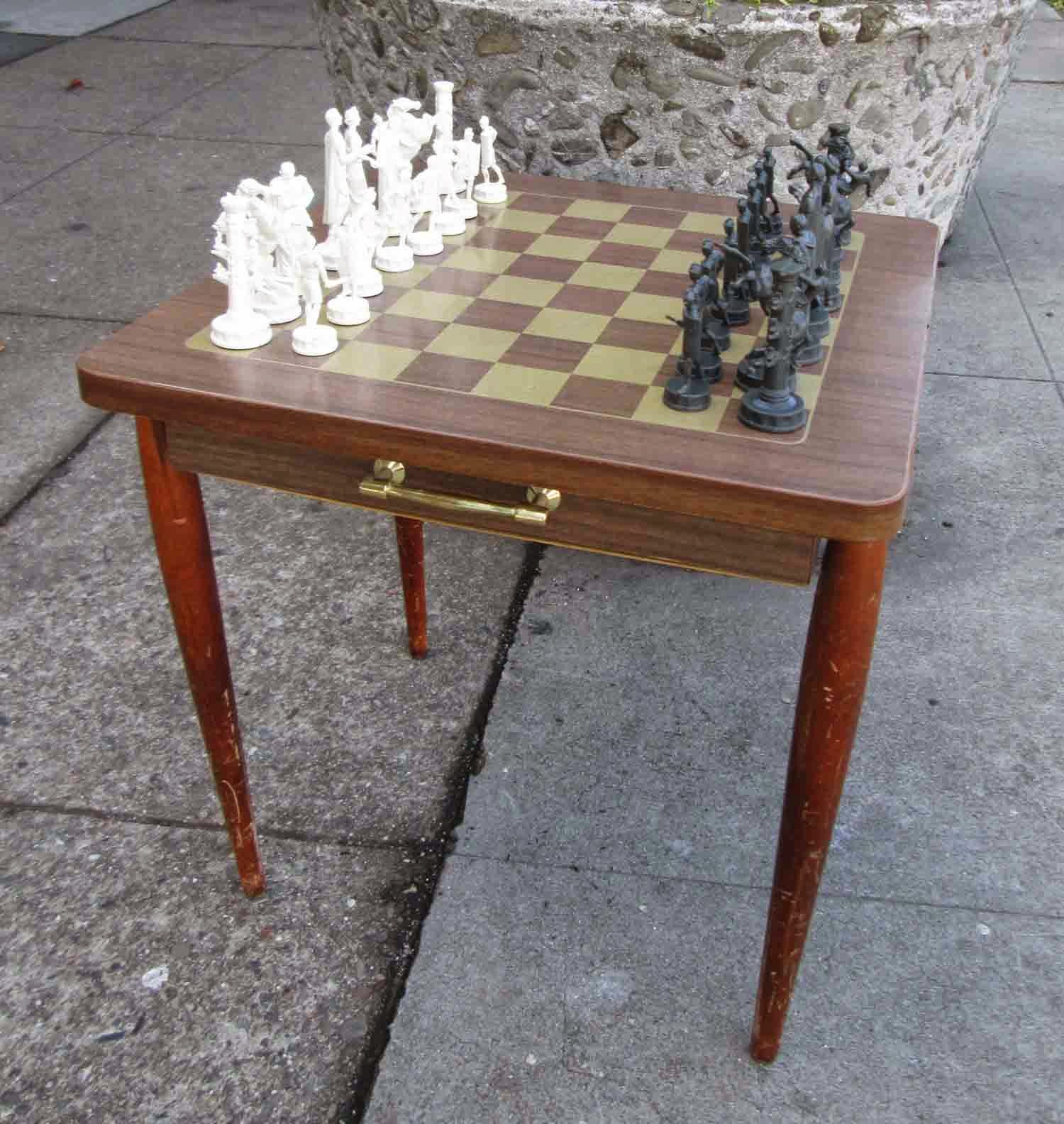 Chess Table And Chairs Beauty Salon Images Uhuru Furniture Collectibles Sold With 2