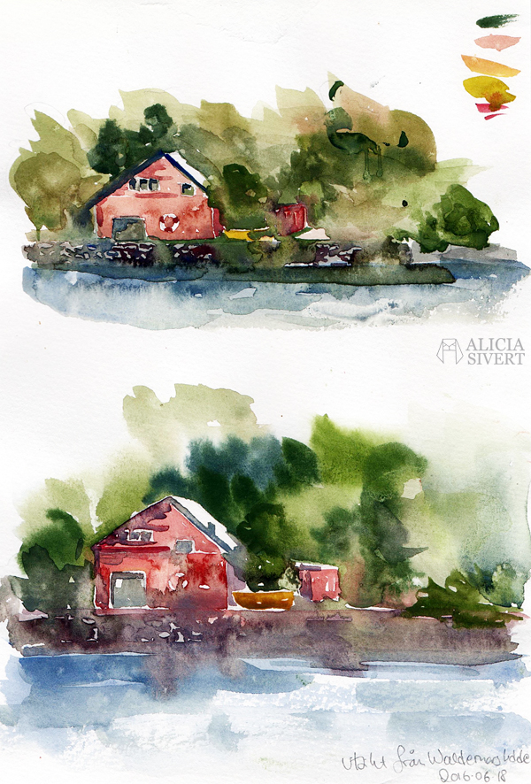 akvarell aquarelle watercolor watercolour vattenfärg måla måleri paint painting färg lars jonsson kurs prins eugens waldemarsudde friluftsmåleri hella helena fogelström aliciasivert alicia sivertsson