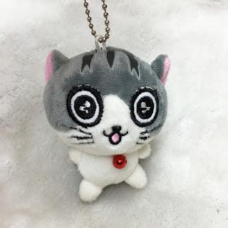 Cute Cat 7cm Plush Keychain Sparkle Eyes