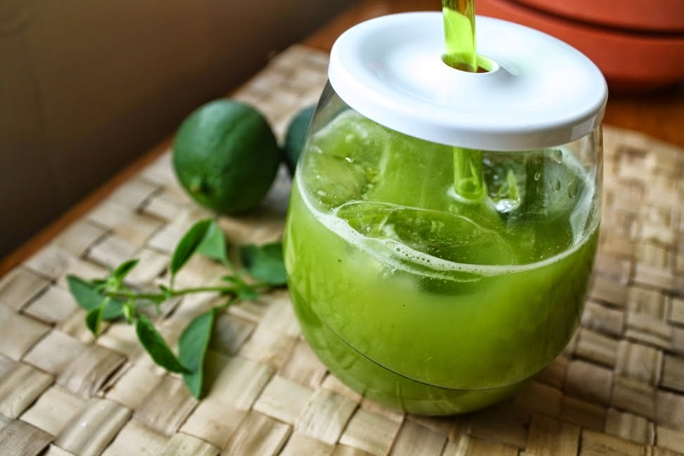 Lime Basil Juice + Margarita