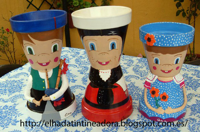 El hada tintineadora Macetas decoradas