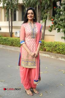 Actress Vimala Raman Stills in Beautiful Pink Salwar Kameez at (ONV) Om Namo Venkatesaya Press Meet  0268.JPG