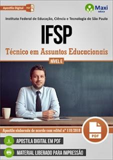 Apostila Concurso IFSP 2018 Técnico em Assuntos Educacionais