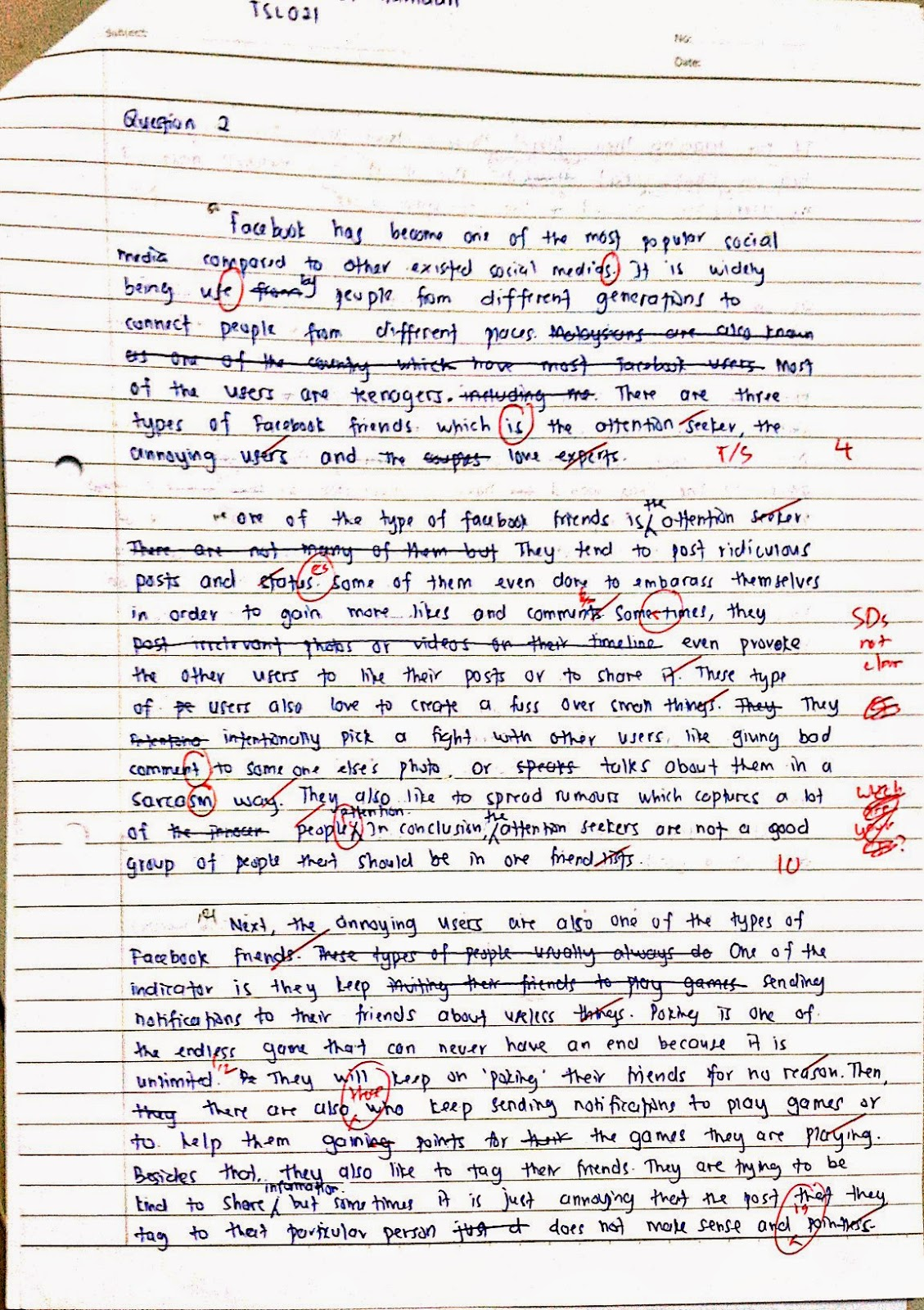 Classification essay about friendships