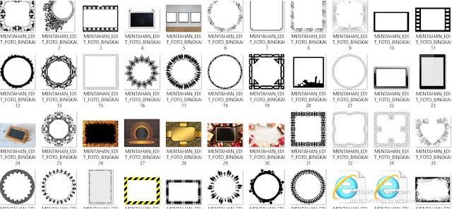 Mentahan Edit Foto PicSay Pro, PicsArt dan PixelLab - Mentahan Bingkai