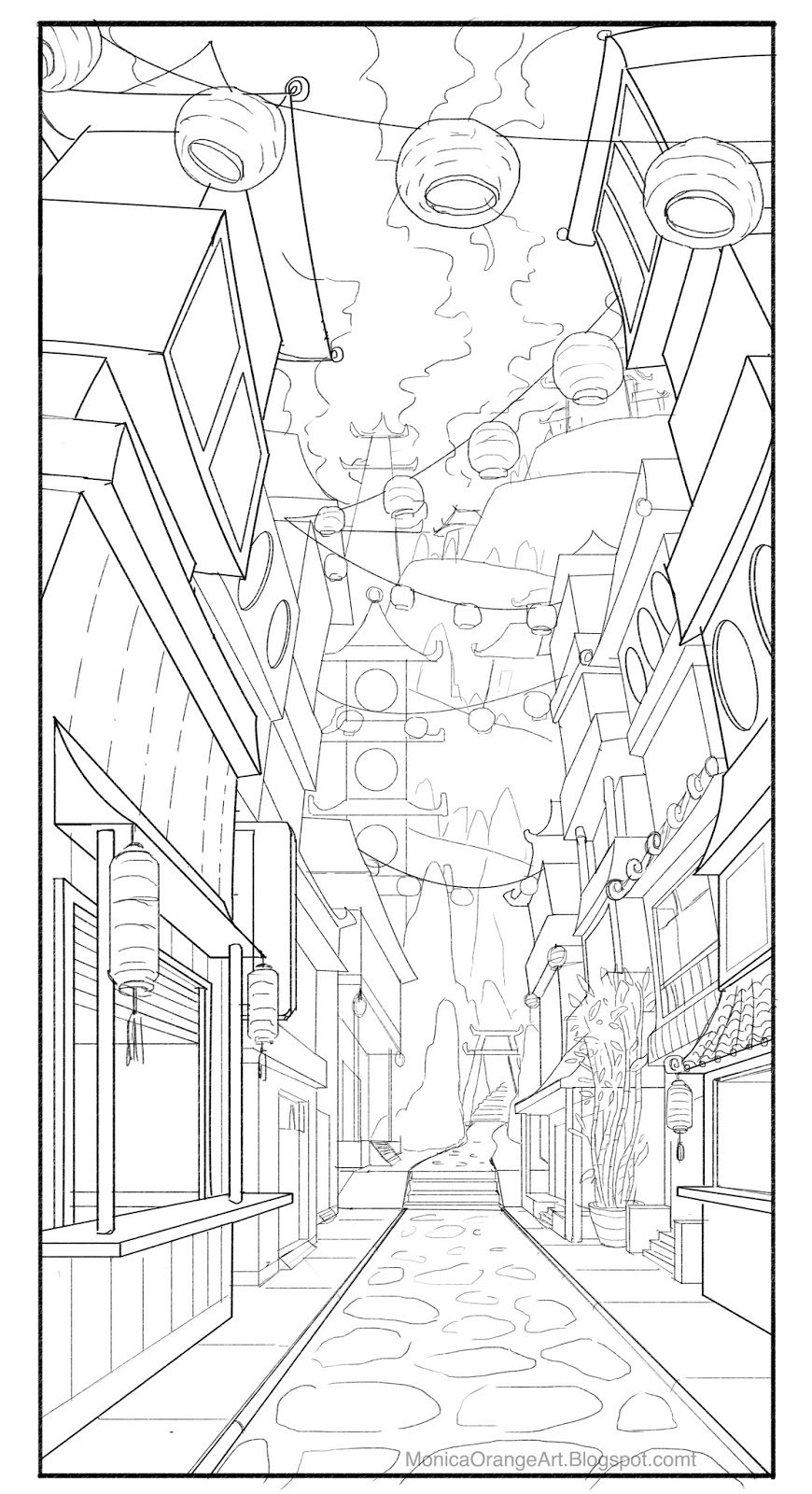 Alley Way Path Environment Layout