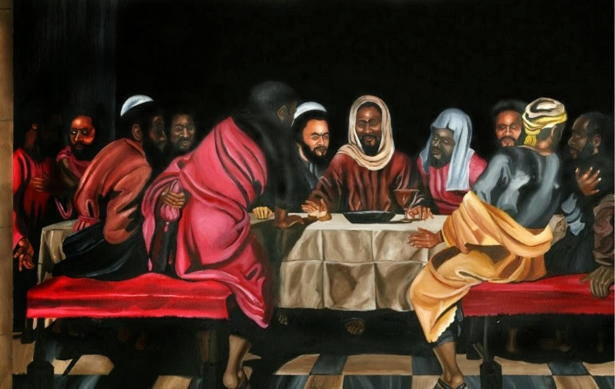 last supper, artist unknown, found on Pinterest with no info given.