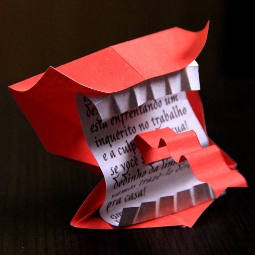 Origami 3d Letter S