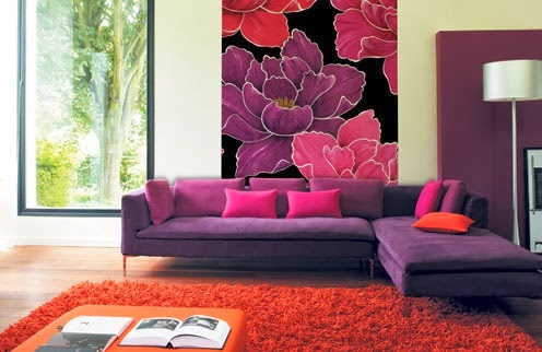 20 contoh ruang tamu warna ungu ~ design rumah