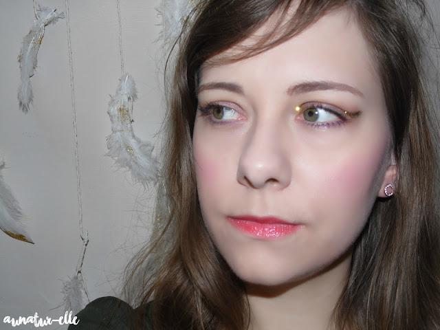 maquillage taupe et doré