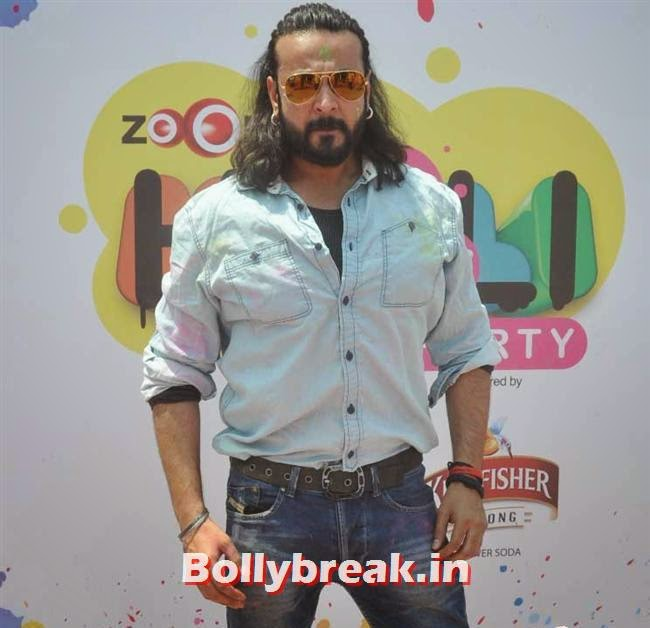 Zoom Holi Party 2014, Sunny, Tanisha, Poonam & Kainaat at Zoom Holi Party 2014
