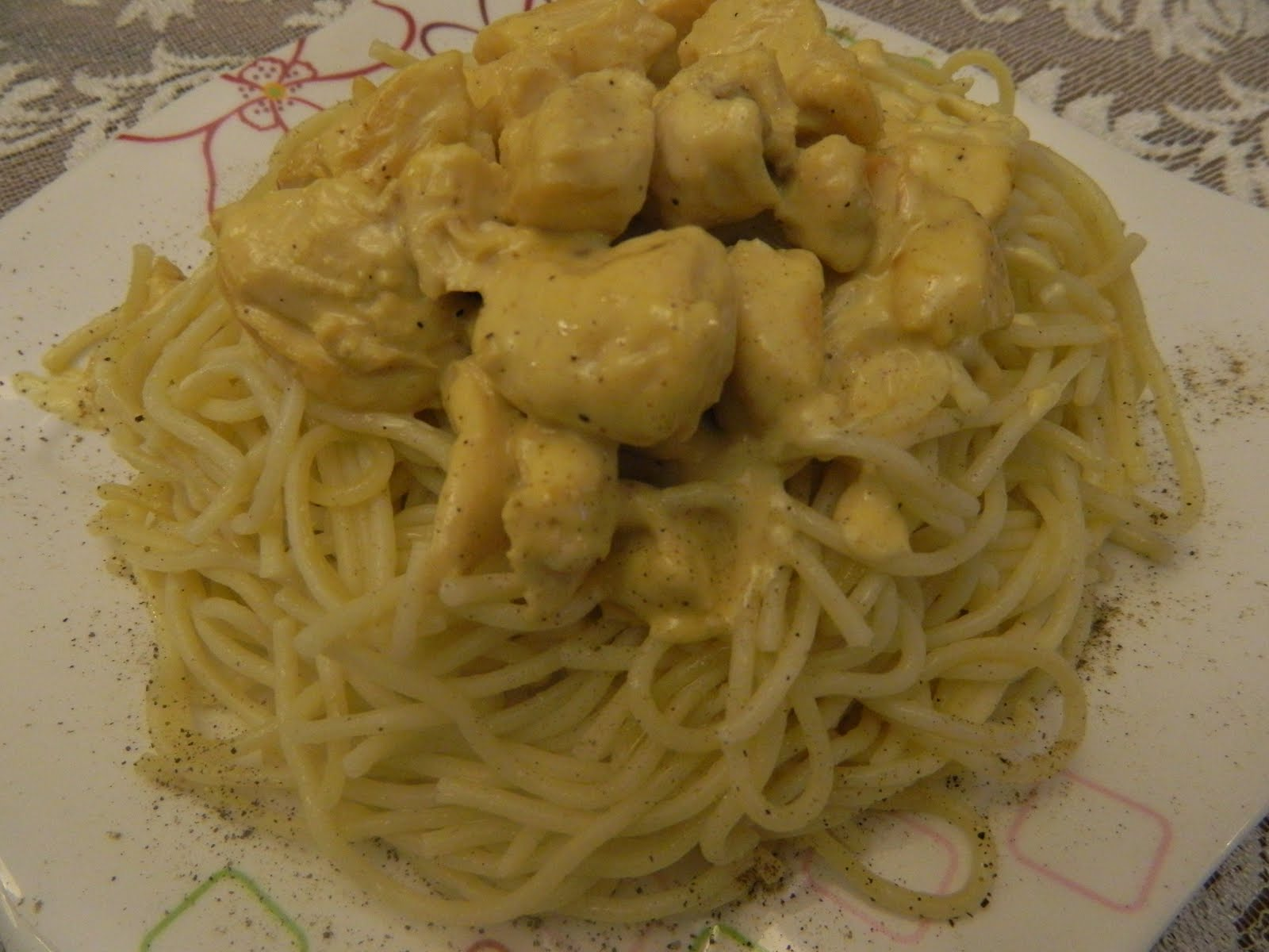 Tavuklu Spagetti Tarifi