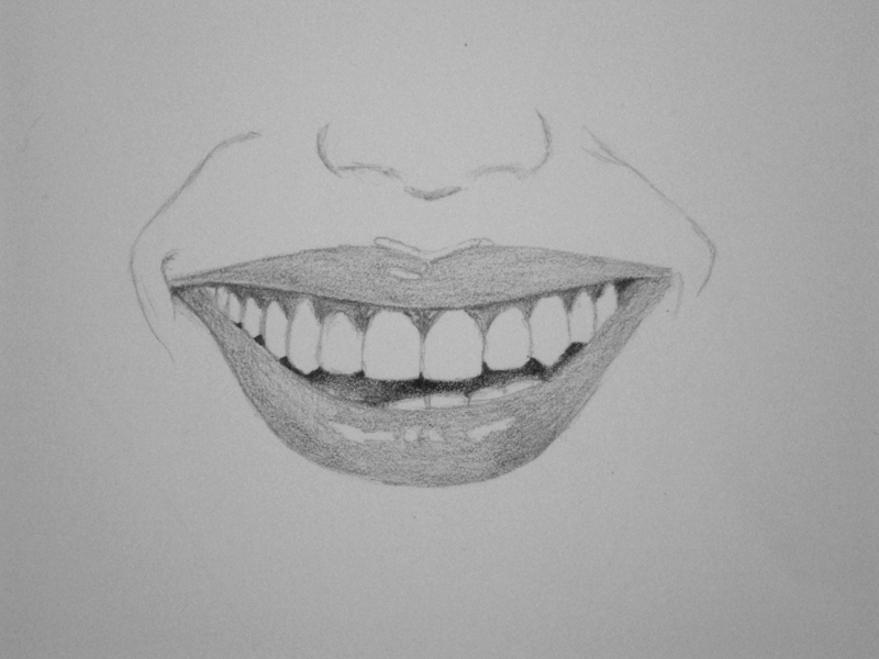How To Draw Lips Smiling Step By Step