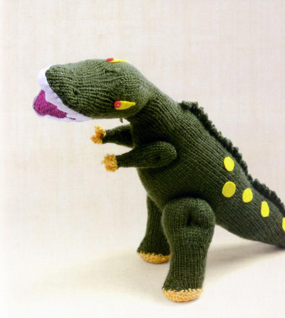 bc3e90cc45869 Tina Barrett Knitted Dinosaurs - Jimmy Beans Wool Blog