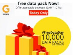 Gigato App Loot - Get 150 MB 3G Data Free for First 10,000