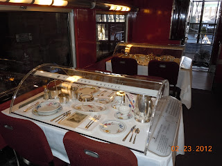 railroad dining car tables