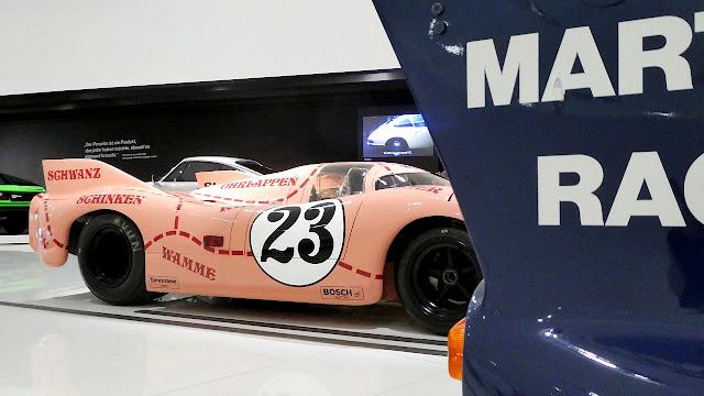 Porsche Museum in Stuttgart Le Mans Winners Pink Pig