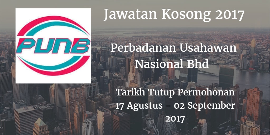 Jawatan Kosong PUNB 17 Ogos - 02 September 2017