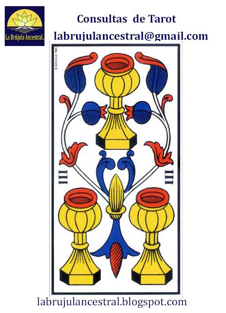 3 de Copas Tarot de Marsella