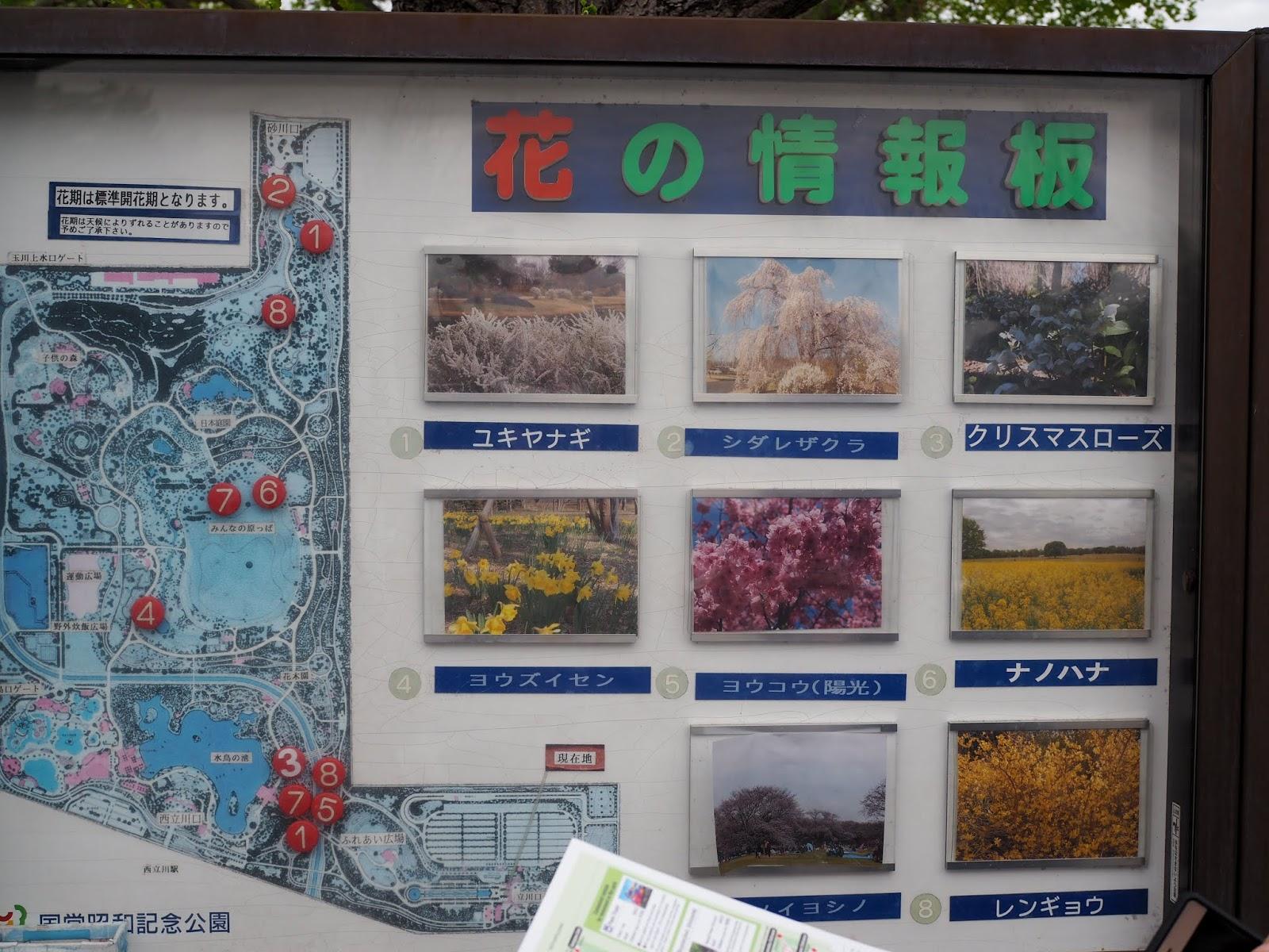 Showa Kinen Park Map