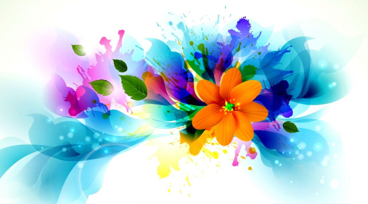 Bright Flower Abstract Hd Wallpaper Wallpaper Wallpaperlepi