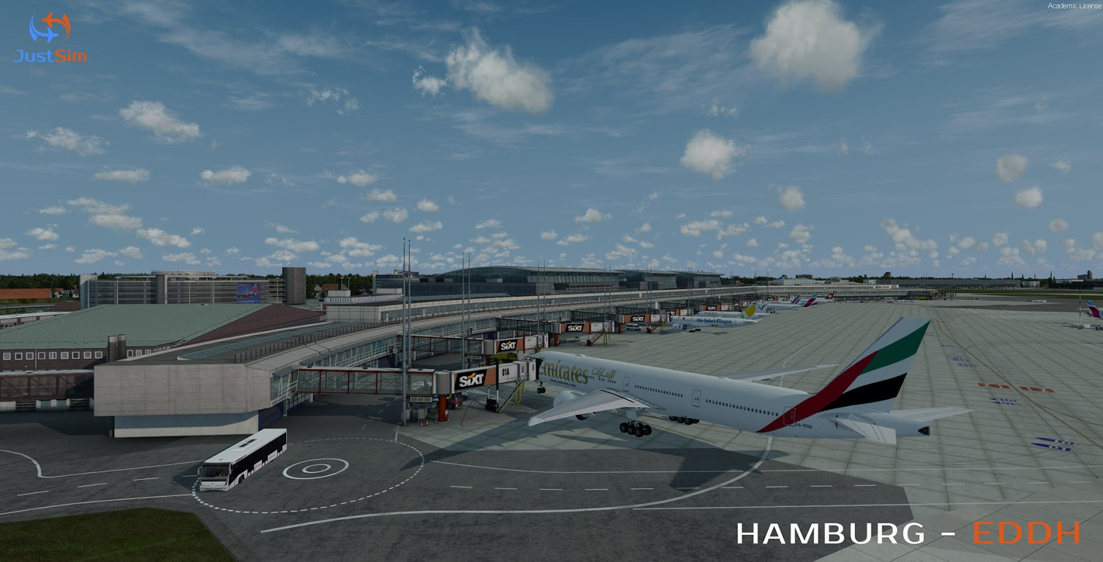 P3D] JUSTSIM - HAMBURG AIRPORT - HELMUT SCHMIDT - EDDH - Master Addons