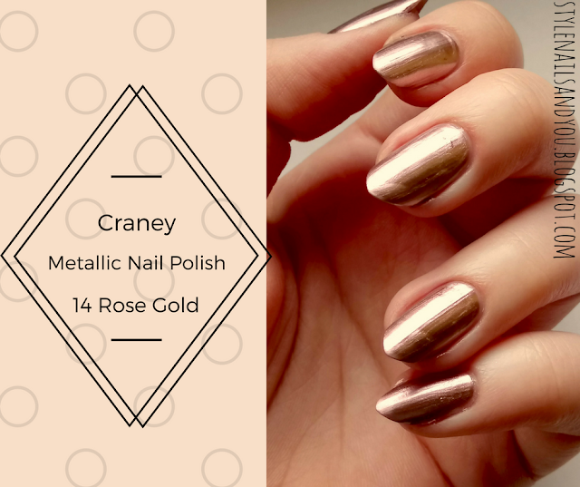 Craney Metallic Nail Polish 14 Rose Gold Mirror Effect | BeautyBigBang Review