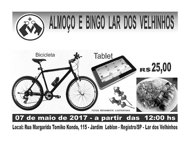 Almoço e  Bingo Beneficente no Lar dos Velhinhos em Registro-SP
