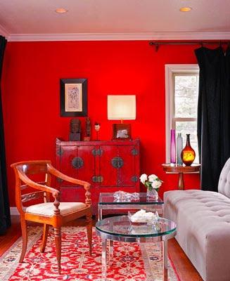 Decoracion actual de moda casas pintadas de rojo - Decoracion de paredes pintadas ...