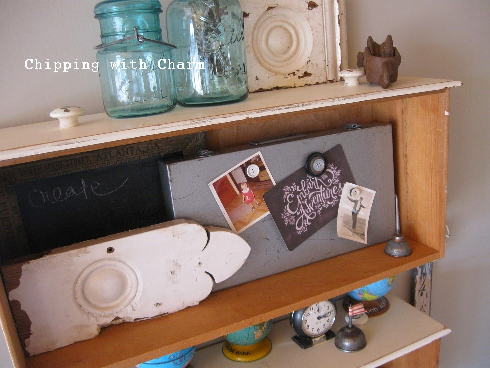 "Chipping with Charm: ""Collected Junk"" Office Space...http://www.chippingwithcharm.blogspot.com/"