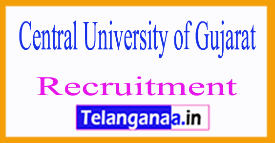 Central University of Gujarat CUG Recruitment Notification 2017